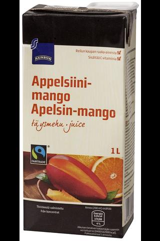 Rainbow Appelsiini-mangotäysmehu Reilu kauppa 1 l