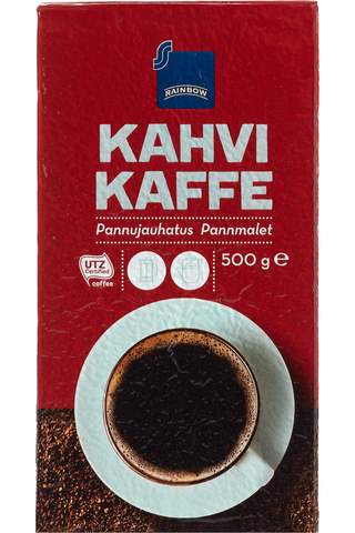 Rainbow kahvi 500g pannujauhatus kahvi