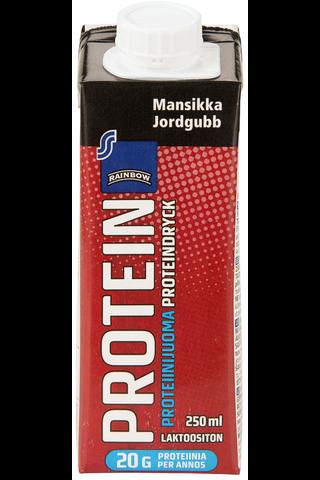 Rainbow Mansikanmakuinen proteiinijuoma 250 ml