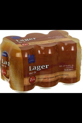 Rainbow 6x0,33l tlk lager olut 2,8%