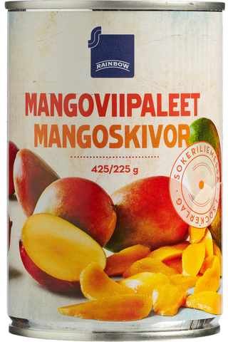 Mangoviipaleet Sokeriliemessä 425/225 g
