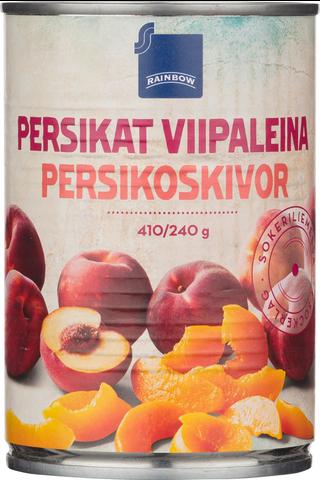 Persikat viipaleina sokeriliemessä 410/240g