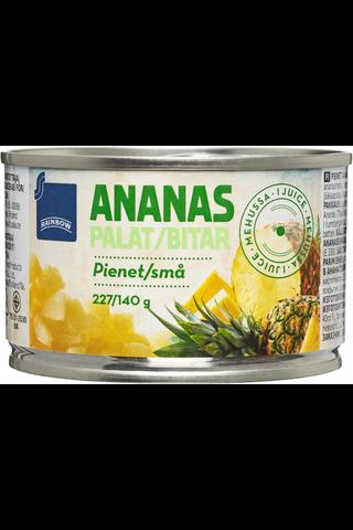 Rainbow Pienet ananaspalat mehussa 227/140 g