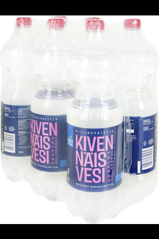 Kivennäisvesi Vadelma 1,5L 6-pack