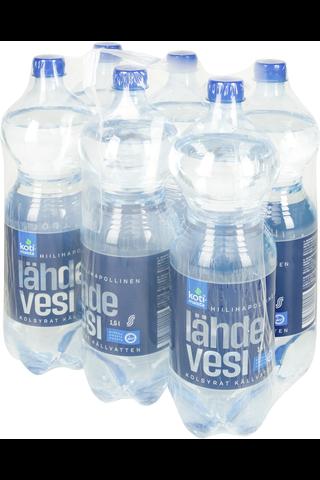 Hiilihapollinen lähdevesi 6 x 1,5 l