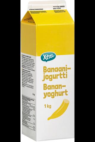 Xtra 1kg banaanijogurtti