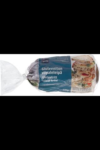 Gluteeniton viipaleleipä 370 g