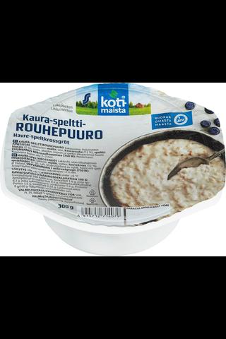 Kotimaista 300g kaura-spelttirouhepuuro laktoositon