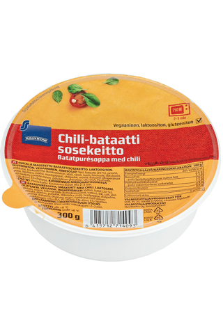 Rainbow vegaaninen chili-bataattisosekeitto 300g