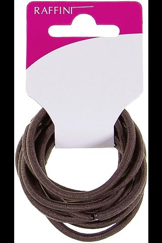 Raffini hiuslenkki ruskea pyöreä 10kpl