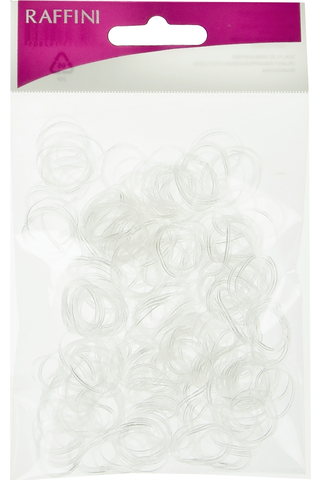 Raffini hiuslenkki silikoni kirkas 500kpl