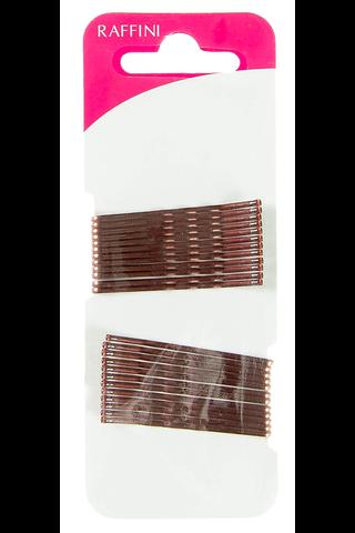 Raffini hiuspinni ruskea 48mm 24kpl