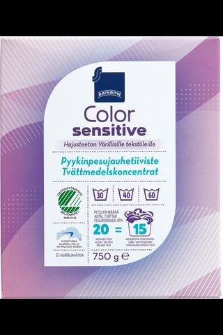 Sensitive color pyykinpesujauhetiiviste 750 g