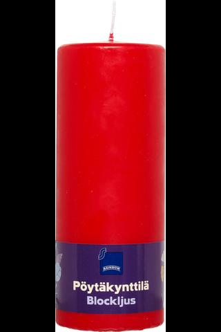 Rainbow 77 x 200 mm pöytäkynttilä punainen