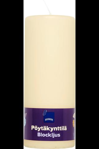 Rainbow pöytäkynttilä 77x200mm shampanja