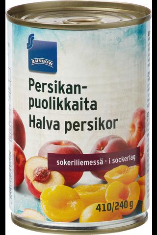 Persikanpuolikkaita sokeriliemessä 410/240 g