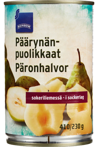 Rainbow Päärynänpuolikkaat sokeriliemessä 425/230 g