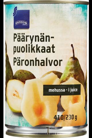 Rainbow Päärynänpuolikkaat mehussa 400/230 g
