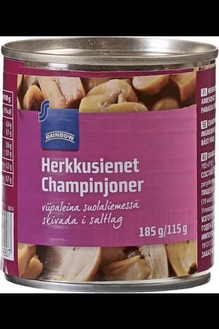 Herkkusienet viipaleina suolaliemessä 185/115 g