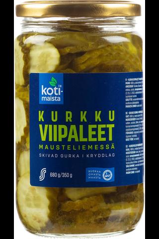 Kotimaista Kurkkuviipaleet mausteliemessä 680 g, josta kurkkua 350 g