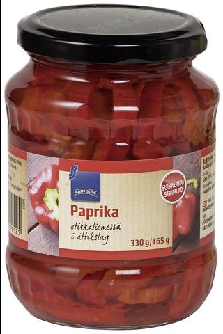 Rainbow Paprika etikkaliemessä 330 g/165 g