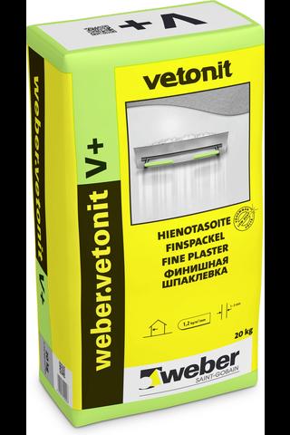 Weber Vetonit V+ Hienotasoite 20 kg