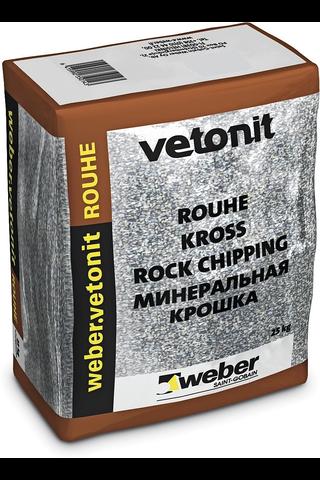 Weber vetonit SR5 Rouhe Musta gabro 25 kg