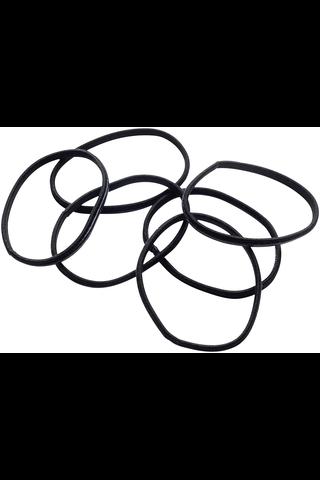 Cailap hiuslenkki musta anti-slip, 6kpl