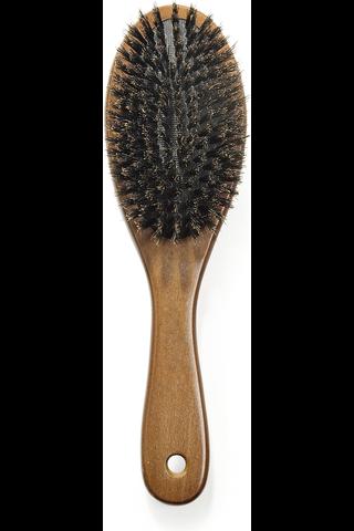 Cailap hiusharja luonnonharjas puinen