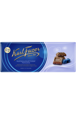 Karl Fazer mustikkajogurtticrisp maitosuklaalevy 190g