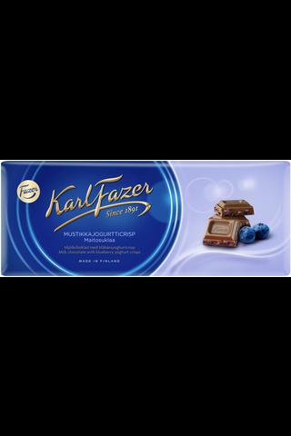 Karl Fazer 190g mustikkajogurtticrisp (3%) maitosuklaalevy