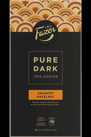 Fazer Pure Dark Crunchy Hazelnut 95g suklaalevy
