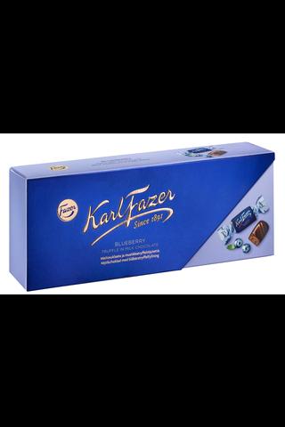 Karl Fazer mustikkatryffelitäytteisiä maitosuklaakonvehteja 270g