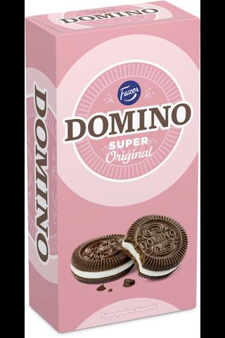 Domino Super Original 345g 22kpl kaakaokeksejä, joissa vaniljanmakuista täytettä (38%), täytekeksi