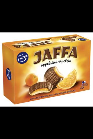 Jaffa Appelsiini 300g 24kpl  suklaalla kuorrutettu leivoskeksi, jossa appelsiininmakuista täytettä