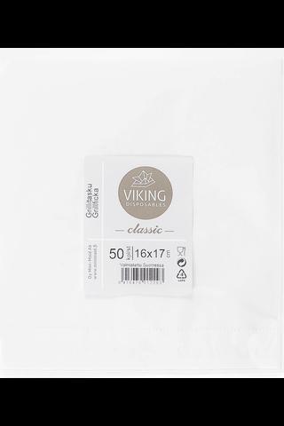 Viking Grillitasku 16X17CM 50KPL Valkoinen