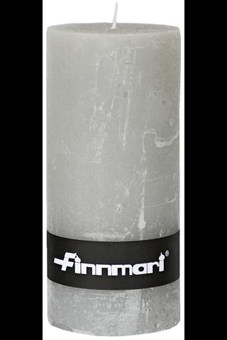 Finnmari pöytäkynttilä huurrepinta 7x15cm harmaa