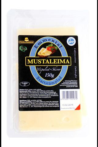 Porlammin Mustaleima 150g emmentaljuustoviipale