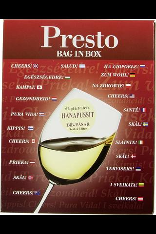 Presto Bag in Box hanapussipakkaus 6x3l