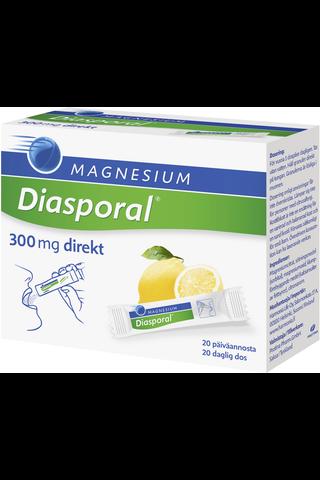 Diasporal sitruunanmakuinen magnesium-annosrae 300mg Direkt ravintolisä 27g/20kpl