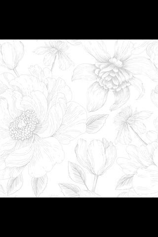Vallila kuitutapetti poem valkoinen 5242-3 11,2m