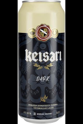 Keisari Dark olut 0,5l 4,5% tölkki