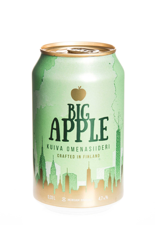 Big Apple 4,7% kuiva omenasiideri 0,33l tlk