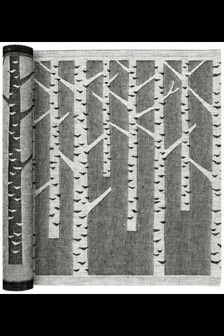 Lapuan Kankurit Koivu -laudeliina 46x150cm valko-musta pellava-puuvilla