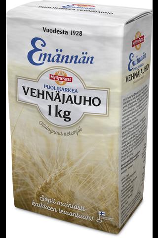 Myllyn Paras Emännän Puolikarkea vehnäjauho 1 kg