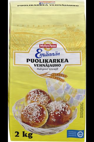 Myllyn Paras Emännän Puolikarkea Vehnäjauho 2 kg