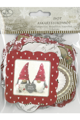 J.K. primeco ask.kuvio iso joulunostalgialaj. 25kpl/pkt