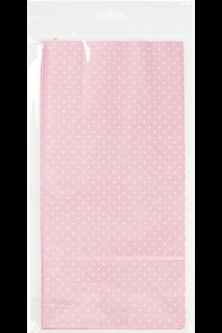 Primeco lahjapussi pilkullinen vaaleanpunainen 5kpl/pkt