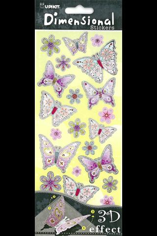 Primeco 3D tarra-arkki perhoset