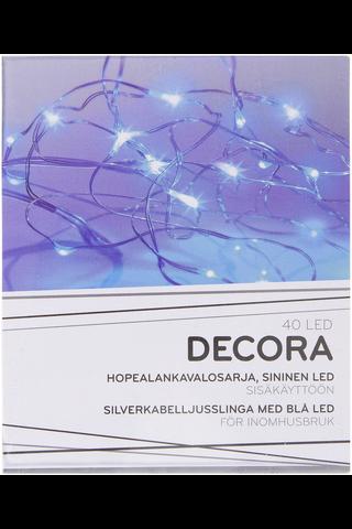 Decora 40 LED hopealankavalosarja, sininen LED